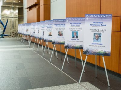 AAI Career Awardees and Lecturers on display