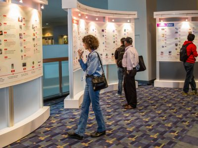 Attendees viewing the AAI Timeline