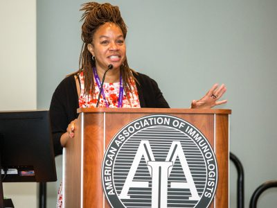 Cherie Butts speaking during Minority Affairs Committee Roundtable