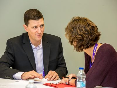 Derek Haseltine giving guidance during the How to Convert Your CV into a Resume session