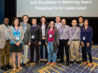 Lewis Lanier's AAI Excellence in Mentoring Award presentation