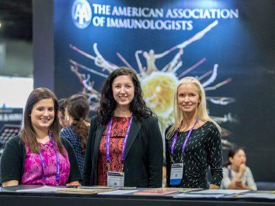 AAI staffers Lauren Brodd, Courtney Pinard, and Jennifer Woods